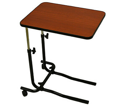 Over Bed Table / Chair Table with Adjustable Height & Angle - 2 Castor model