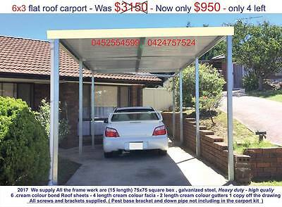 carport sale, New single flat roof carport 6 x 3