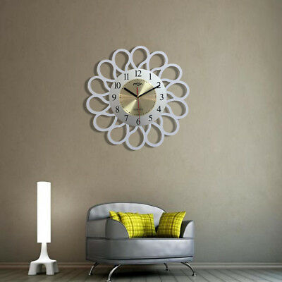 Large Modern Wood Design Round Wall Clock Fashion Home Living Room Office Decor