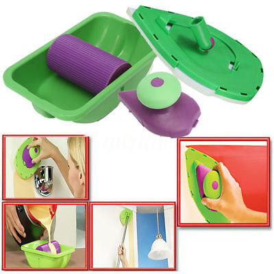 Point Paint Pad Painting Roller Tray Sponge Kit Brush Home Wall Decor Tool AU
