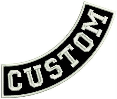 """11"""" CUSTOM EMBROIDERED SIDE ROCKER  - Patch Top, Bot or Side - Sew On"""