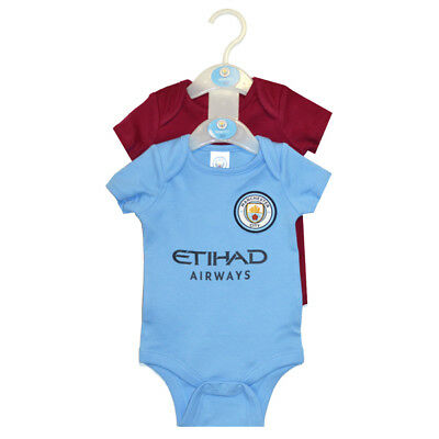 Manchester City 2 Pack Bodysuit 6 / 9 Months 17/18 Season Baby Official Licensed