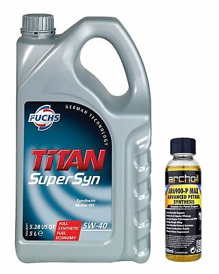 Fuchs Titan Supersyn SAE 5W40 Fully Synthetic Engine Oil 5 Litre, VW 502 / 505
