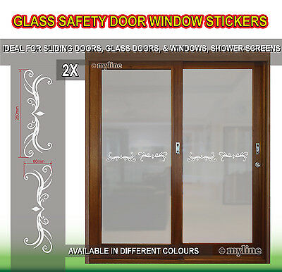 Safety Glass Door Window Decals Stickers 019 G Pattern Choose Colour