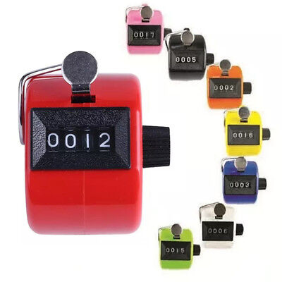 Color Digital Hand Held Tally Clicker Counter 4 Digit Number Clicker Golf Chrome