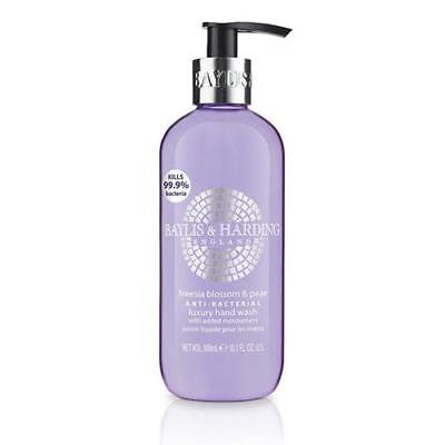 Baylis & Harding Freesia Blossom and Pear 300ml Hand Wash Anti Bacterial FREE P&