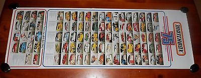 1982 Matchbox Collectable Cars Original Advertising Poster