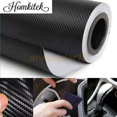 Carbon Fiber Vinyl Car Auto DIY 3D 4D 5D 6D Wrap Sheet Roll Film Sticker Decal