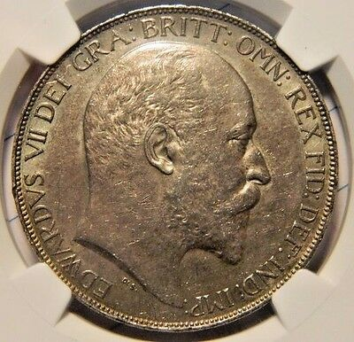 1902 Edward Vii Silver Crown,slabbed And Graded Ngc Au 58