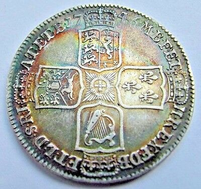 1746 George 2Nd Lima Below Bust Silver Halfcrown,