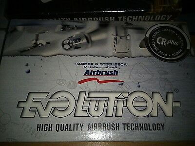 Airbrush Evolution CR Plus 0,2mm Harder U. Steenbeck- viel Zubehör!!!!!
