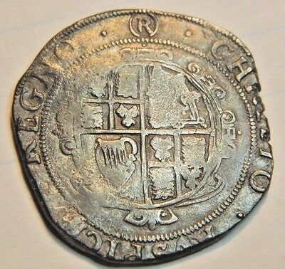 Charles 1St Tower Mint Under Parliament Silver Halfcrown ,1644-1645 ,mm (R)