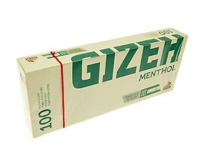 10x(100) Gizeh Menthol King Size Make Your Own Concept Cigarette Filter Tubes KS
