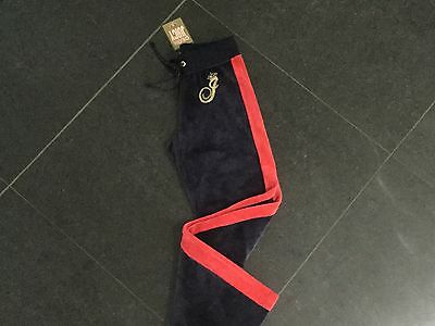NWT Juicy Couture New & Gen. Blue Velour Tracksuit Pants With Logo Girls Age 8