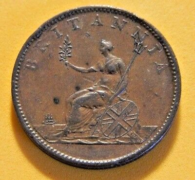 George 3Rd 1806 Soho Birmingham  Mint Copper Halfpenny..