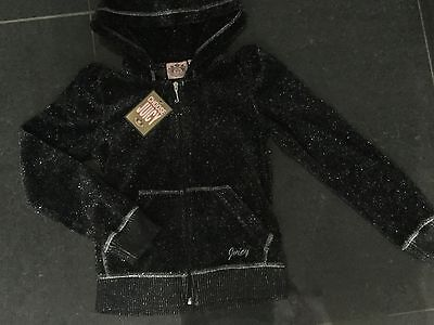 NWT Juicy Couture New & Gen. Girls Age 8 Black Cotton Blend Hoody & Juicy Logos