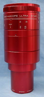 Isco Cinemascope Ultra-Star Plus 2.1  75mm  2.95 in. Red Projection Lens