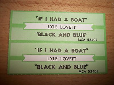 """2 Lyle Lovett If I Had A Boat Jukebox Title Strip CD 7"""" 45RPM Records"""