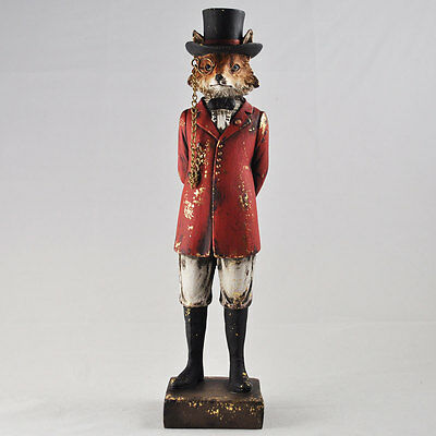 Hunting Fox Statue Vintage Clothing Style Unique Novelty Decor Steampunk 80651