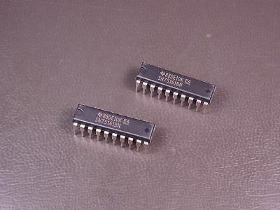 Lot of 2 SN75161BN Texas Instruments Octal Bus Interface Transceiver 20 Pin PDIP