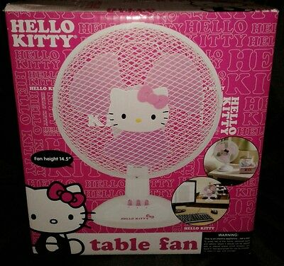Hello Kitty Desk Fan Still In Box