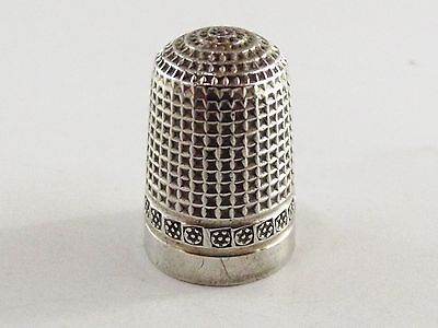 Antique Silver Thimble Chester 907 Ref 637/6