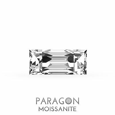 Paragon Moissanite Loose Baguette Straight Cut Best Diamond Alternative