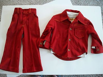 1970s Boys LEISURE SUIT Vintage RARE FIND 3 pc Health-Tex Retro MCM Size 4