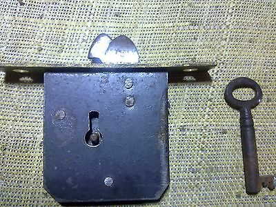 full mortice desk lock 85 mm , square ends, antique or vintage (RTG5)