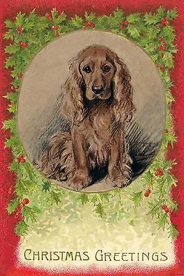 BLOND Cocker Spaniel Dog  8 LARGE New Blank Christmas Note Cards