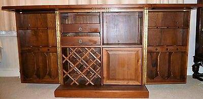 Vintage Oriental  Carved Expandable Bar Liquor Cabinet