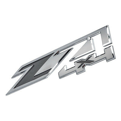 OEM NEW Front Fender Z71 4x4 Emblem Chrome w/ Black 14-18 Chevrolet GMC 23172678