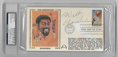 Wilt Chamberlain Auto Autograph Signed First Day Cover Coa Psa Dna Lakers Hof