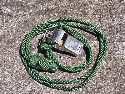 Vintage BSA Boy Scouts Be Prepared Metal Whistle Wood or Cork Ball