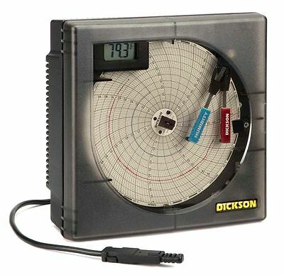 "DICKSON Circular Recorder Temperature and Humidity 6"" Chart 1 or 7 Day"