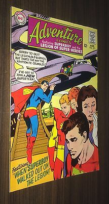 ADVENTURE COMICS #371 -- August 1968 -- NEAL ADAMS Cover -- F Or Better