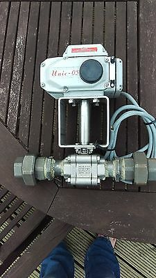 """Electric Actuated Threaded BSP 1"""" Ball Valve Stainless Steel"""