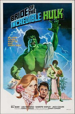 BRIDE OF THE INCREDIBLE HULK one sheet movie poster 27x41 LOU FERRIGNO 1980 RARE