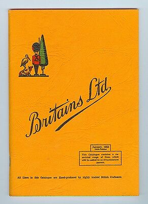 "VINTAGE 1953 BRITAINS LTD CATALOG (January 1953, 108th Edition) 74 pages 8""x6"""