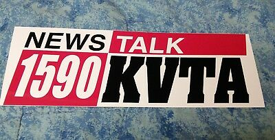 KVTA talk radio station sticker 1590 AM Ventura CA California