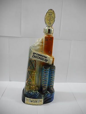 1978 Jim Beam Bottle / 8Th Convention Chicago Bottles & Specialties Club