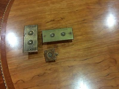 Vintage Solid Brass Door Bell Button Plate
