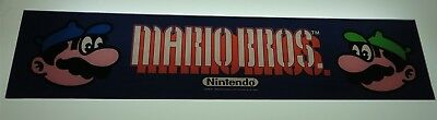 Nintendo Mario Brothers Arcade Game Marquee on lexan