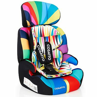 Cosatto Zoomi Group 1/2/3 Child's Car Seat with 5 Point Plus - Go Brightly