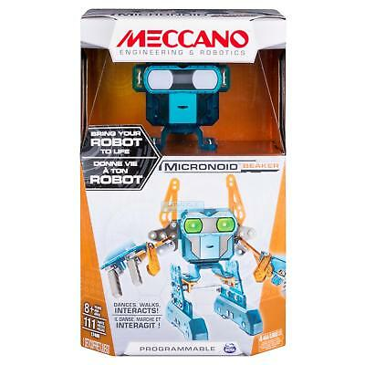 Meccano 123 Pieces Programmable Interactive Robot Toy - Micronoid Beaker Teal
