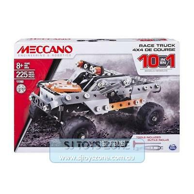 Meccano Engineering & Robotics 10 in 1 Race Truck Model Set Kids Toy 225 Pieces