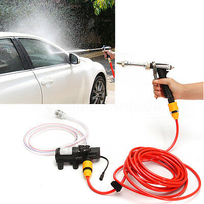 12V High Pressure Power Car Wash Water Pump Cleaner Sprayer Kit Camping Washer
