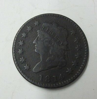 1814 Classic Head U.S. Large Cent VF Details (Nice Coin)