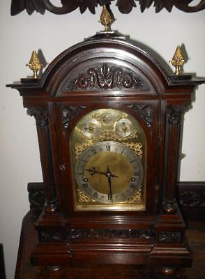 a large  winterhalder & hoffmeir westminster bracket clock on gongs c1900s