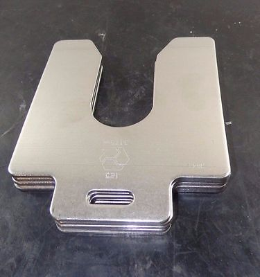 """Maudlin Products Slotted Shim 5"""" x 5"""" x .125"""" Quantity 5 MSD125-5"""